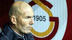 Zidane, durante el Galatasaray – Real Madrid (Getty).