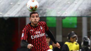 Theo Hernández, durante un partido. (Getty)