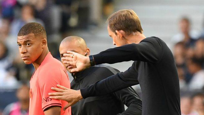 Mbappé y Tuchel, en una foto de archivo (AFP).