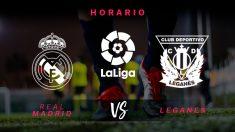 Liga Santander: Real Madrid – Leganés | Horario del partido de fútbol de Liga Santander.