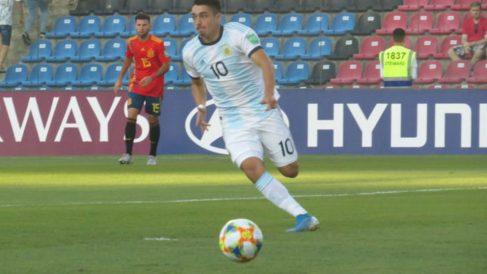 Matías Palacios, durante un partido. (AFA)