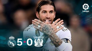 El Real Madrid goleó 5-0 al Leganés.