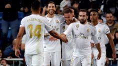 Los jugadores del Real Madrid celebran un gol ante el Leganés. (EFE)