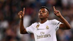 Rodrygo celebra su gol ante el Leganés. (AFP)
