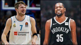 Doncic intenta 'fichar' a Kevin Durant para el Real Madrid.
