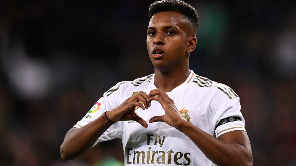 Rodrygo celebra su gol contra el Leganés. (AFP)