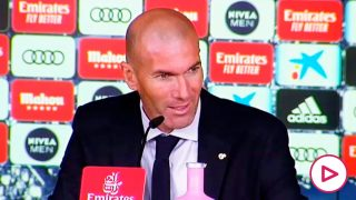 Zidane, en rueda de prensa.