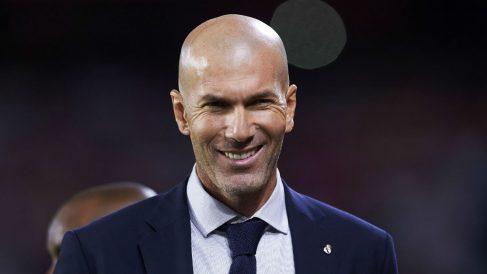 Zinedine Zidane, durante un partido del Real Madrid (Getty).