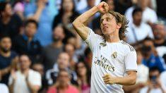 Modric, durante un partido. (AFP)