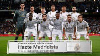 Los jugadores del Madrid posan antes del partido contra el Betis.