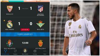 La pifia de la Liga en el gol anulado a Hazard.