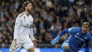 Joel durante el partido ante el Real Madrid. (EFE)