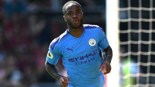 Raheem Sterling celebra un gol con el Manchester City. (Getty)