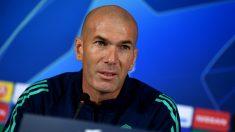 Zidane, en rueda de prensa (AFP).