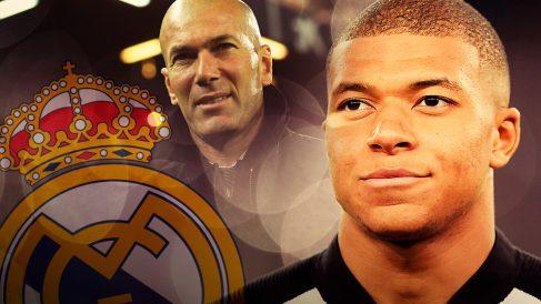 Zidane abrió la puerta al fichaje de Mbappé por el Real Madrid.