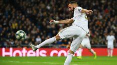 Benzema fue el protagonista del partido contra el Galatasaray. (AFP)