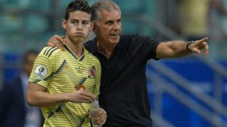 Queiroz ha convocado a James Rodríguez para los partidos de Colombia. (AFP)