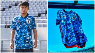 Takefusa Kubo presentó la nueva camiseta de Japón.