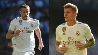 Gareth Bale y Toni Kroos durante un partido con el Real Madrid.