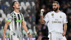 Benzema y Cristiano Ronaldo.
