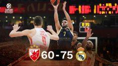 El Real Madrid rompió su mala racha a domicilio en Belgrado.