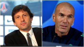 Leonardo y Zidane, en sendas fotos de archivo.