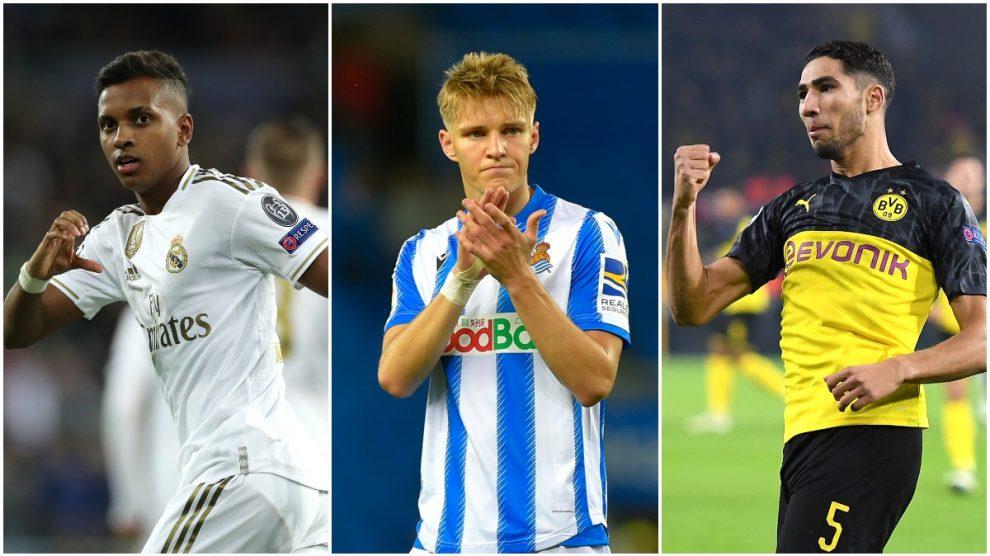 Rodrygo, Odegaard y Achraf, esta temporada.
