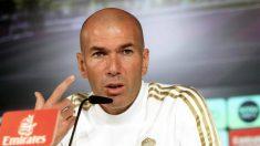 Zinedine Zidane, durante una rueda de prensa (EFE).