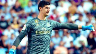 Courtois, en un partido del Real Madrid.