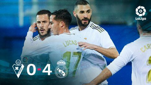 El Real Madrid se impuso 0-4 al Eibar.