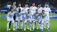Once titular del Real Madrid ante el Eibar. (AFP)