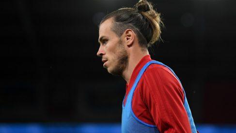 Bale, durante un partido de su selección. (Getty)
