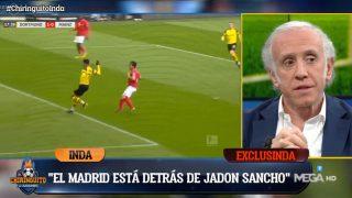Inda desveló que el Madrid sigue los pasos de Jadon Sancho.
