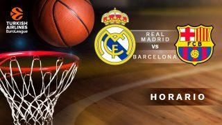 Euroliga 2019-2020: Real Madrid – Barcelona | Horario del partido de baloncesto de la Euroliga.