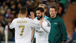 Isco, entrando por Hazard en Champions.
