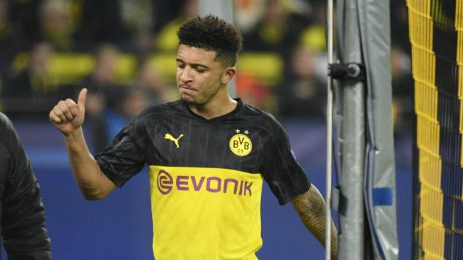 Jadon Sancho, con el Borussia Dortmund (AFP).
