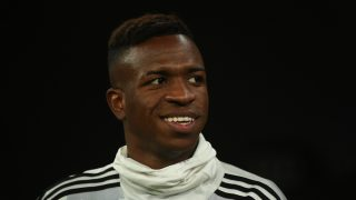 Vinicius sonríe antes de un partido. (Getty)