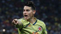 James-Rodríguez,-durante-un-partido-con-Colombia-(Getty)