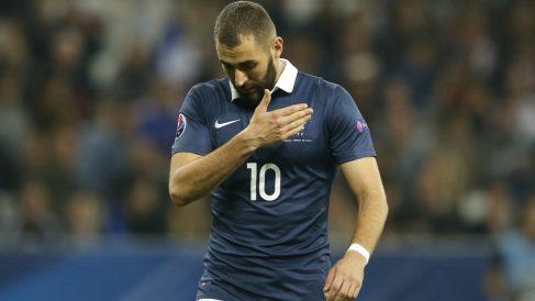 Benzema, en uno de sus últimos partidos con Francia.