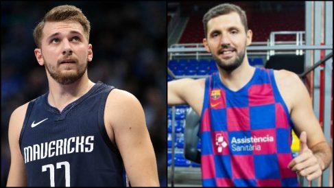 Luka Doncic y Nikola Mirotic.