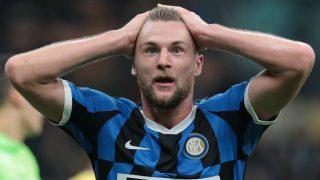 Milan Skriniar, durante un partido con el Inter de Milán. (Getty)