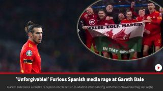 La prensa de Gales se une a la mofa de Bale.
