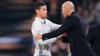 Zidane solo pierde a James después del parón.