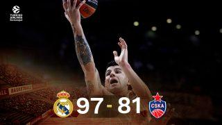 El Real Madrid venció al CSKA en Euroliga.