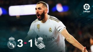 El Real Madrid se impuso 3-1 a la Real Sociedad.