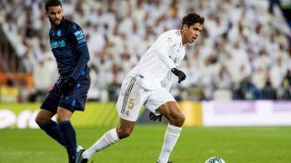 Raphael Varane durante el Real Madrid – Real Sociedad. (EFE)