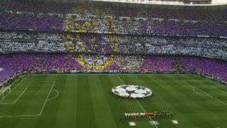 El Bernabéu antes de un partido de Champions. (Getty)