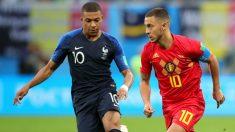 Hazard y Mbappé durante un Francia – Bélgica. (AFP)