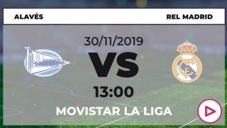 Liga Santander: Alavés – Real Madrid | Horario del partido de fútbol de Liga Santander.