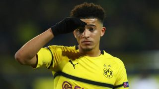 Jadon Sancho, durante un partido con el Borussia Dortmund. (Getty)